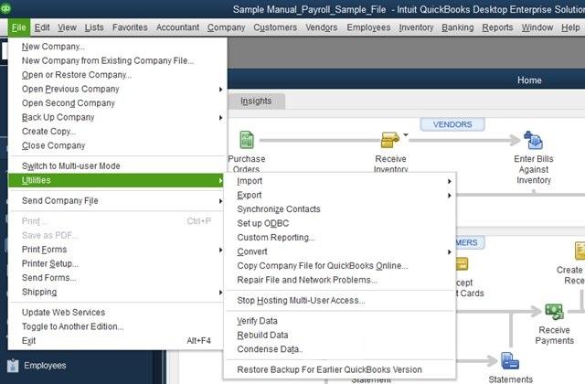 Naviagate Utilities Option - Screenshot