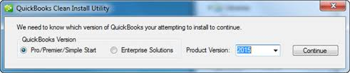 clean install tool in quickbooks - screenshot