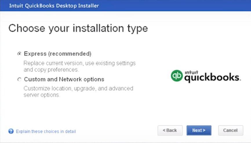 Re-installation of QuickBooks Desktop - Screenshot