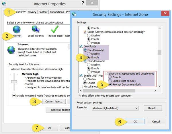 Fix the Internet Explorer, Security and Firewall - Screenshot