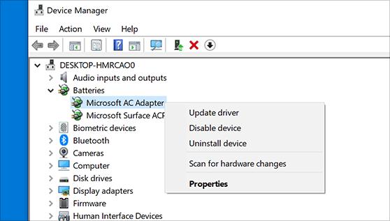 Updating the PC Drivers - Screenshot