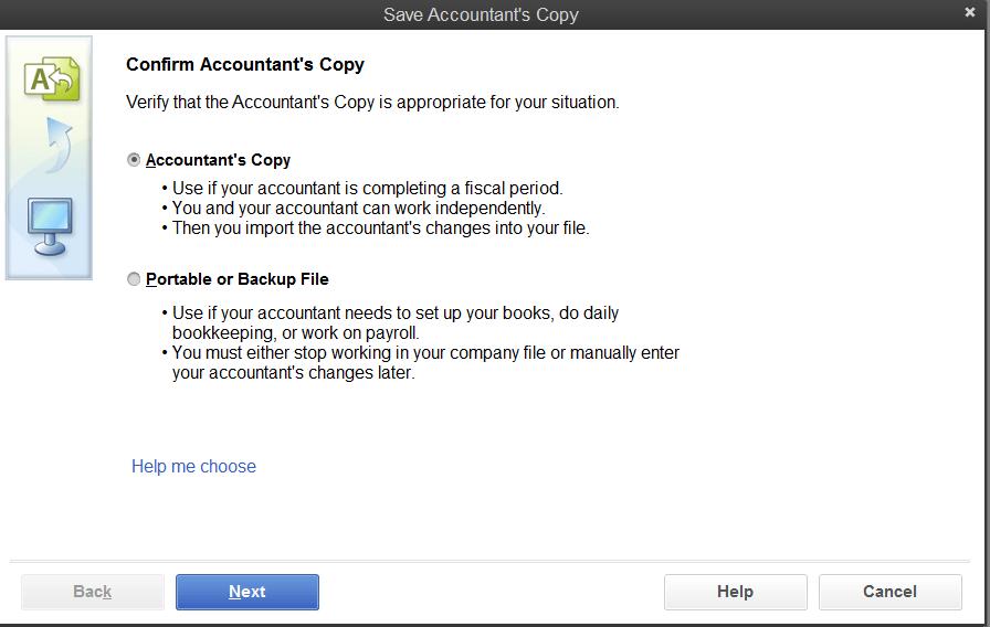 QuickBooks Accountant Copy - Screenshot