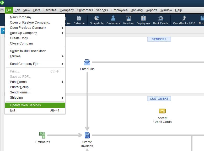 Update Web Services - Screenshot