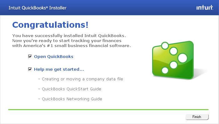 QuickBooks installation-Screenshot