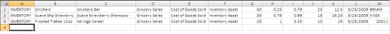 Creating the spreadsheet - Screenshot 3