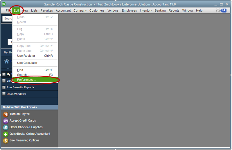 Preferences - Screenshot